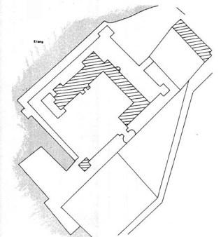 Plan du château de Beaumont la Férrière