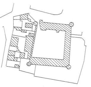 Plan du château de Prémery