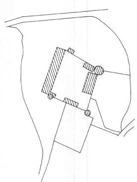 Plan du château de la Motte d'Arthel