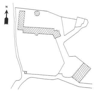 Plan du château domaine du Pré