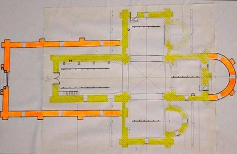 Plan de l'église de Béard