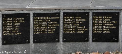 Plaques des victimes Nièvre Passion