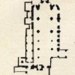 Plan de l'église Saint-Sauveur de Nevers