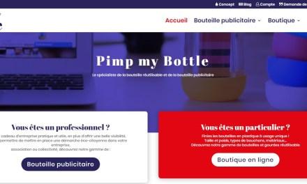 La boutique en ligne de bouteilles réutilisables et personnalisables Pimp my bottle fait peau neuve