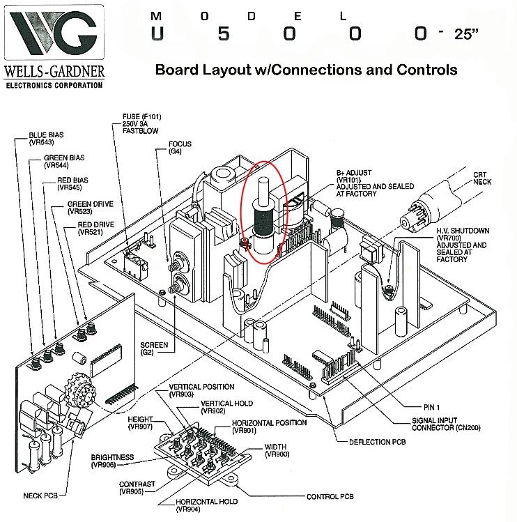 Wells gardner u2000 schematic