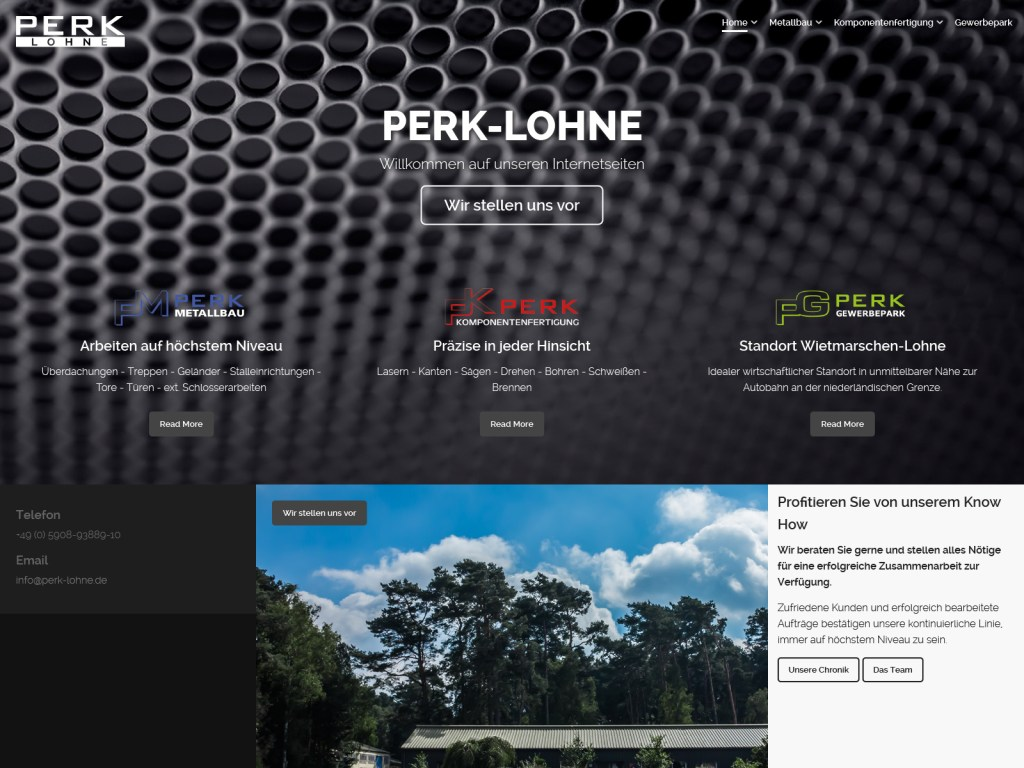 Website Perk Metallbau