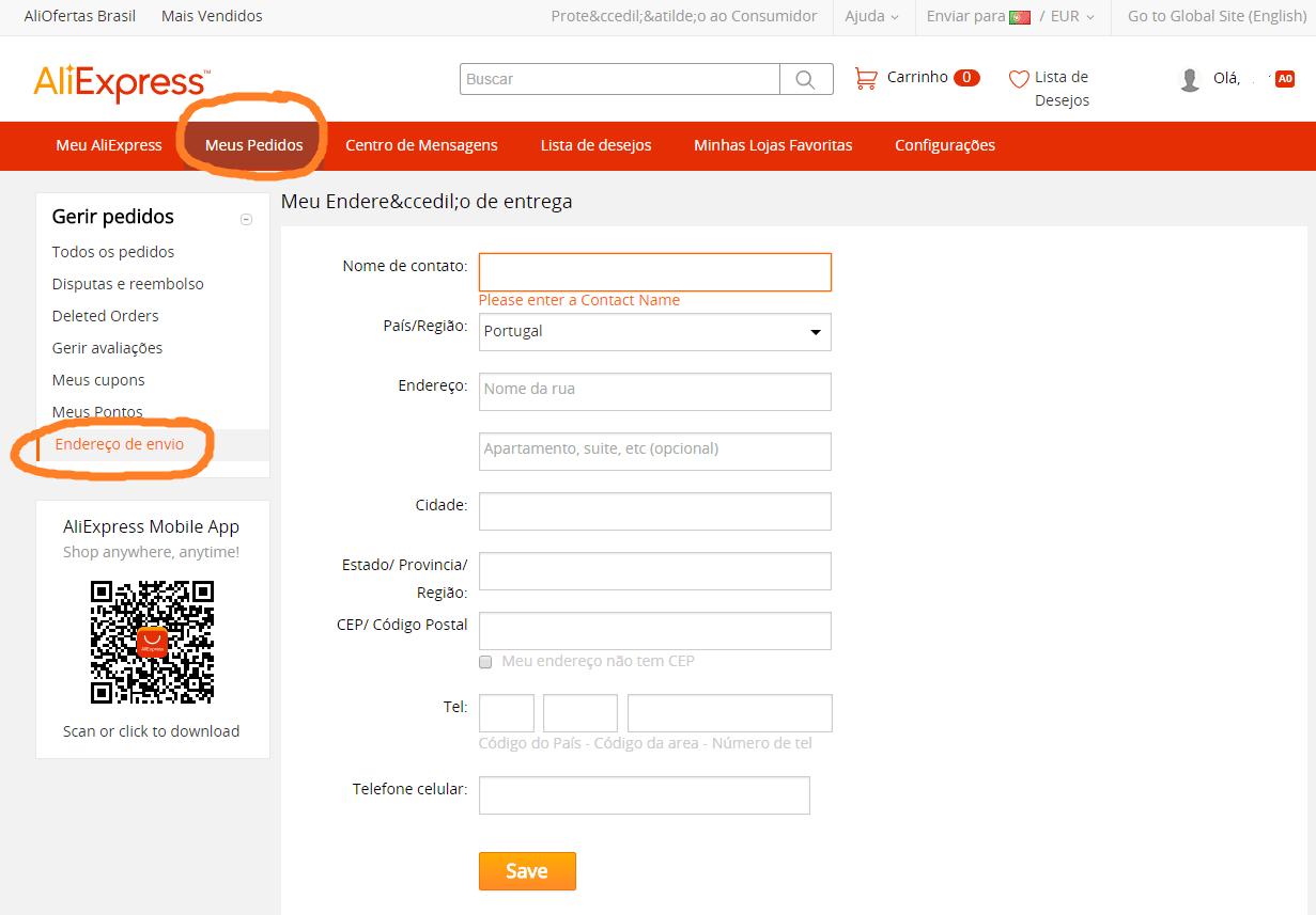 76c0815fe Como Comprar no AliExpress para Portugal
