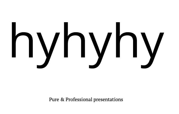 Hyhyhy, créer vos slides de présentation web