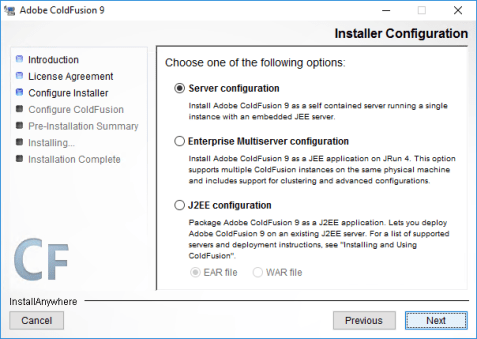 How to install Adobe ColdFusion 9 x64 on Windows Server 2016