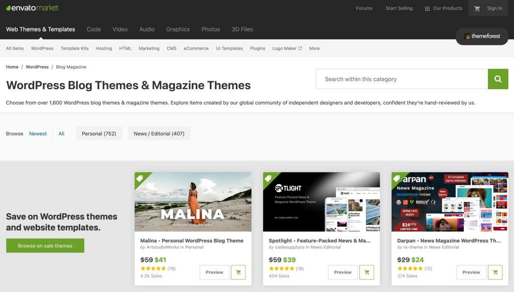 theme forest vyber sabol / tem na wordpress
