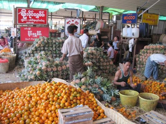 Gemüse-Großmarkt von Yangon
