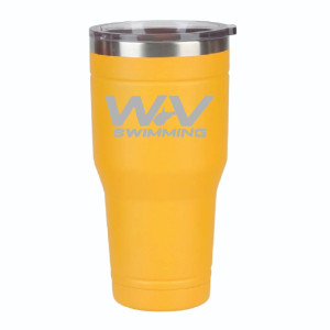 WV Swimming Gold Tumbler