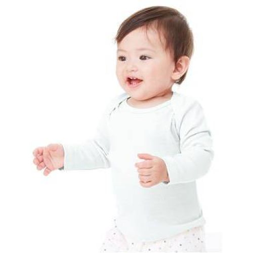 Infant Baby Rib Long Sleeve Infant Lap Shoulder T-Shirt