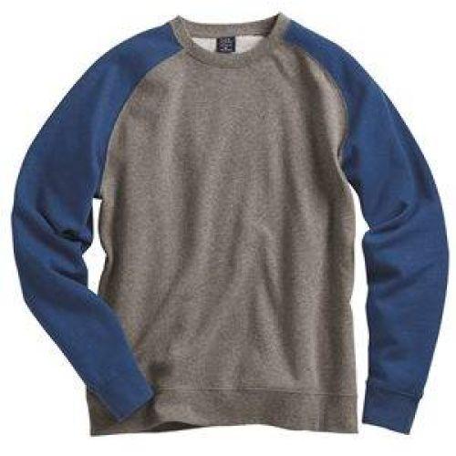 Fitted Raglan Crewneck Sweatshirt