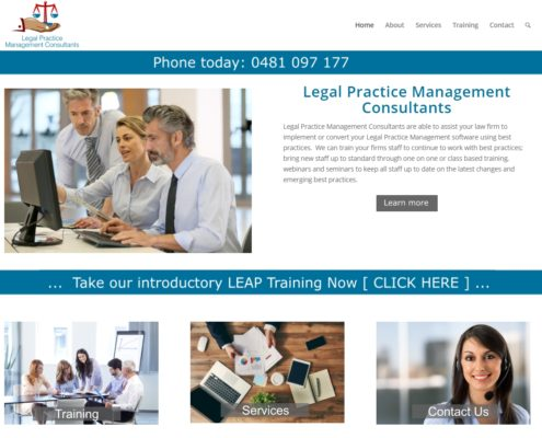 Website Design - Legal Practice Management Consultants