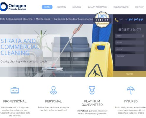 Website Design - Octagon Property