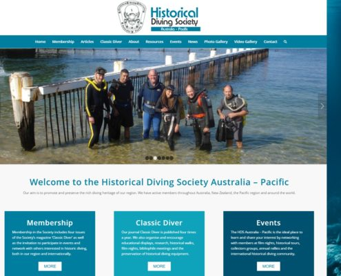 Website Design - Historical Diving Society
