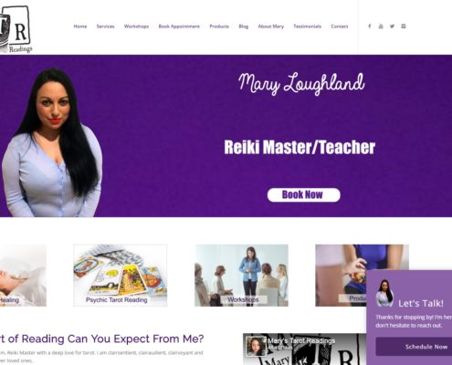 Website Design - Mary Tarot Readings
