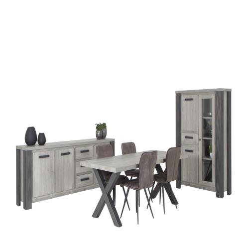 Eetkamer met 4 stoelen  Eetkamersets  WEBA meubelen