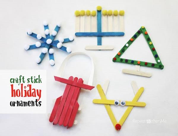 25 increibles  adornos de navidad hechos a mano - adornos de palitos de helado