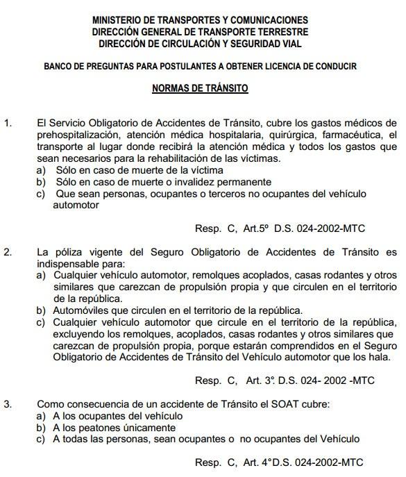 balotario-preguntas-examen-manejo-brevete-peru