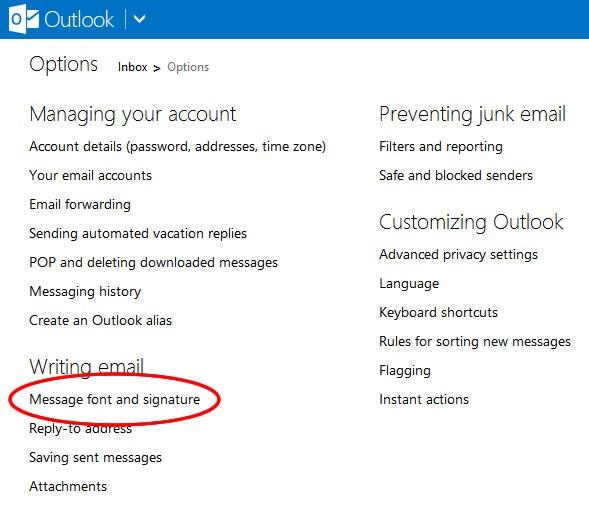 Cómo poner una firma personal en mi correo de Hotmail o Outlook - Paso 2