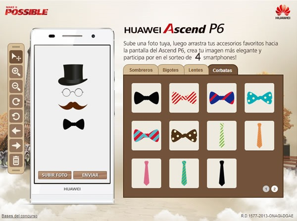 concurso huawei ascend P6 app