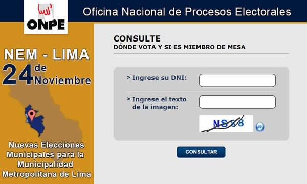 consulta si eres miembro de mesa votaciones 24 noviembre 2013 peru