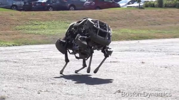 crean robot de cuatro patas que corre mas rapido que el hombre