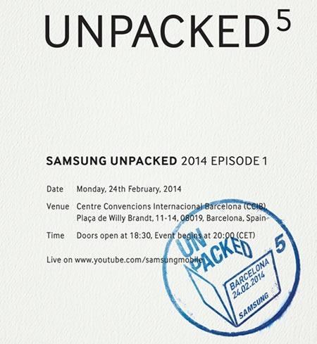 galaxy s5 evento de lanzamiento unpacked 5 2014