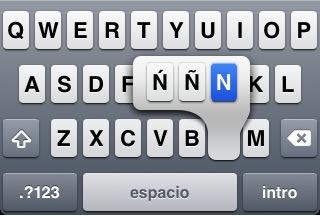 iphone-tecla-ñ