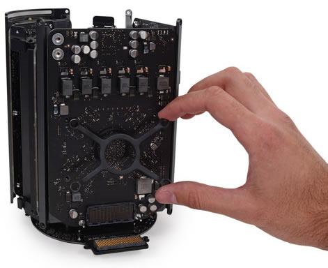 mac pro 2013 desensamblada 2