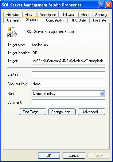 oculta-pantalla-splash-sql-server-management-studio