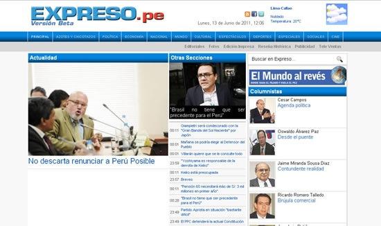 periodicos-peruanos-online-expreso