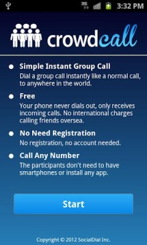 Crowdcall make free phone calls online