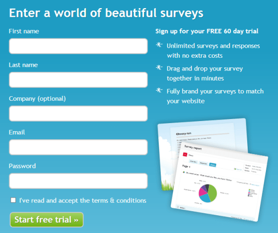 Create dotSurvey account