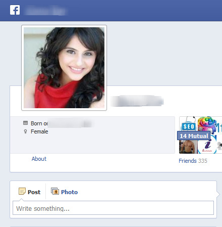Fake facebook profile