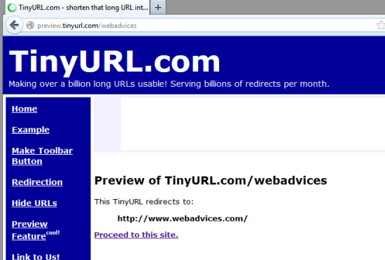 preview Tinyurl before visiting
