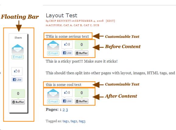 Sharing layouts