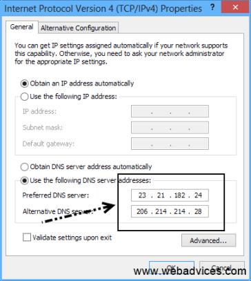 Enter DNS details