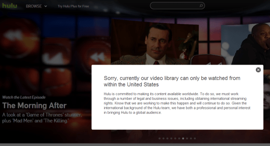 Watch Hulu, Netflix, Pandora outside USA