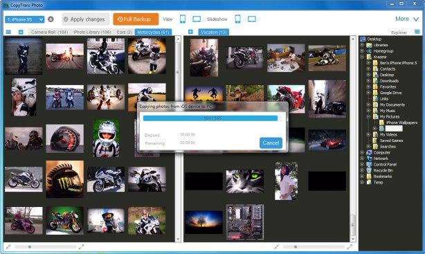 CopyTrans Photo backup
