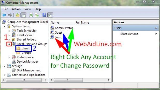 windows password reset manually