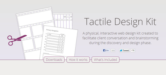 Tactile Design Kit: Physical Interactive Web Design Kit