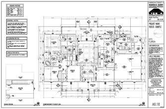 Custom Home Plans: Dimensioned Floor Plan, Florida Architect