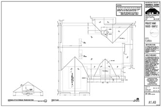 Residential Design Drawings: Roof Plan, Florida Architect