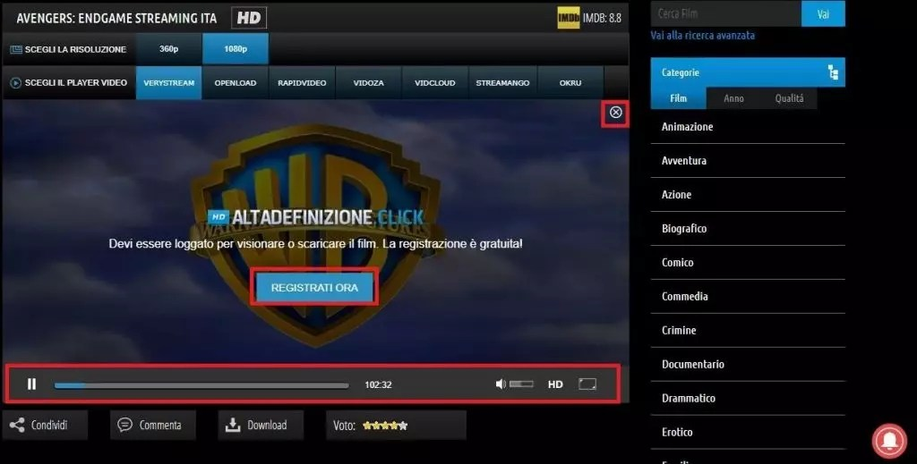 guardare film in streaming gratis