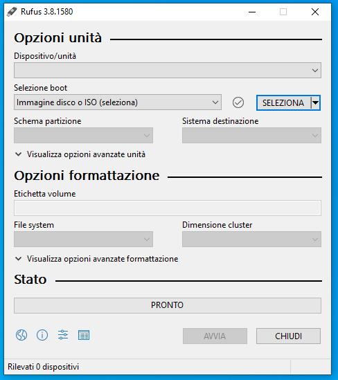 Masterizzare un file ISO su USB