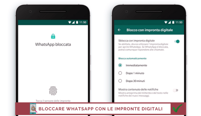 Bloccare Whatsapp con le impronte digitali