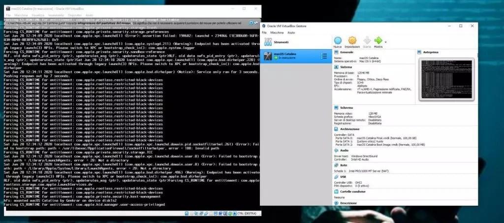 Installare MacOS Catalina su Virtualbox